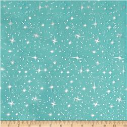 Ice Organza Silver Star Teal