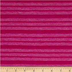 Fine Gauge Knit Shadow Stripe Magenta