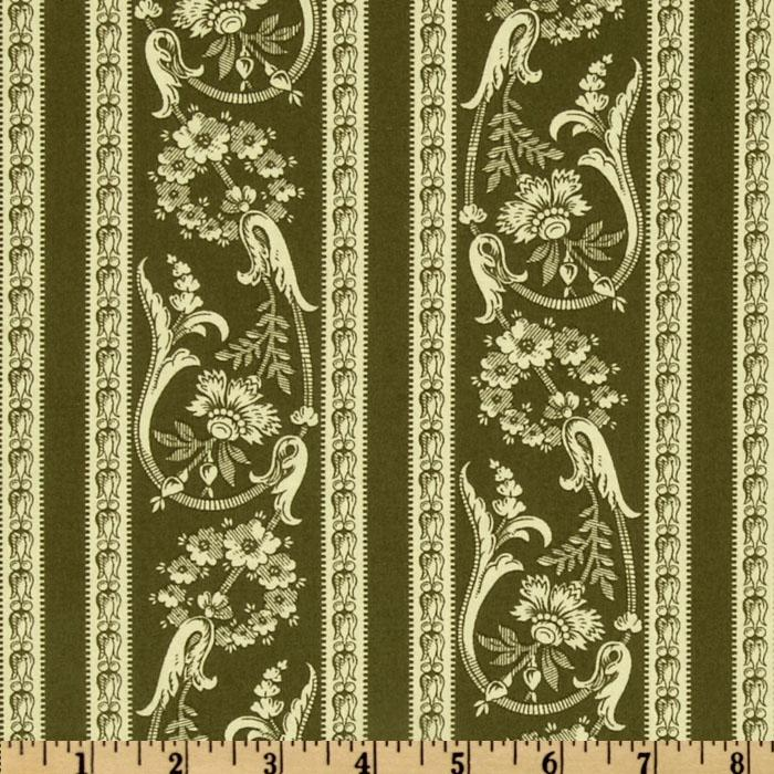 Fairfield Floral Stripe Green