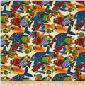 Laurel Burch Sea Spirits Metallic Tossed Fish Cream