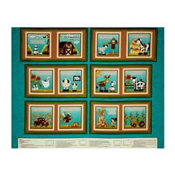 "McAnderson's Farm Book 36"" Panel Teal"