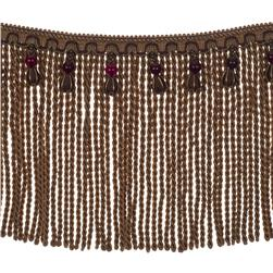 "Fabricut 9"" Mountain Resort Bullion Fringe Aubergine"