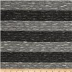 Yarn Dyed Hatchi Knit Stripe Charcoal/Grey
