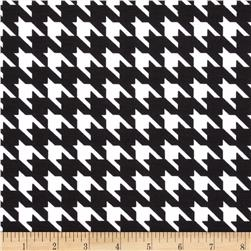 Poly Rayon Ponte Roma Knit Houndstooth Black/White