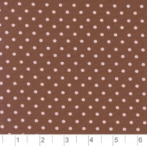 Pimatex Cotton Dots Brown & Pink Fabric
