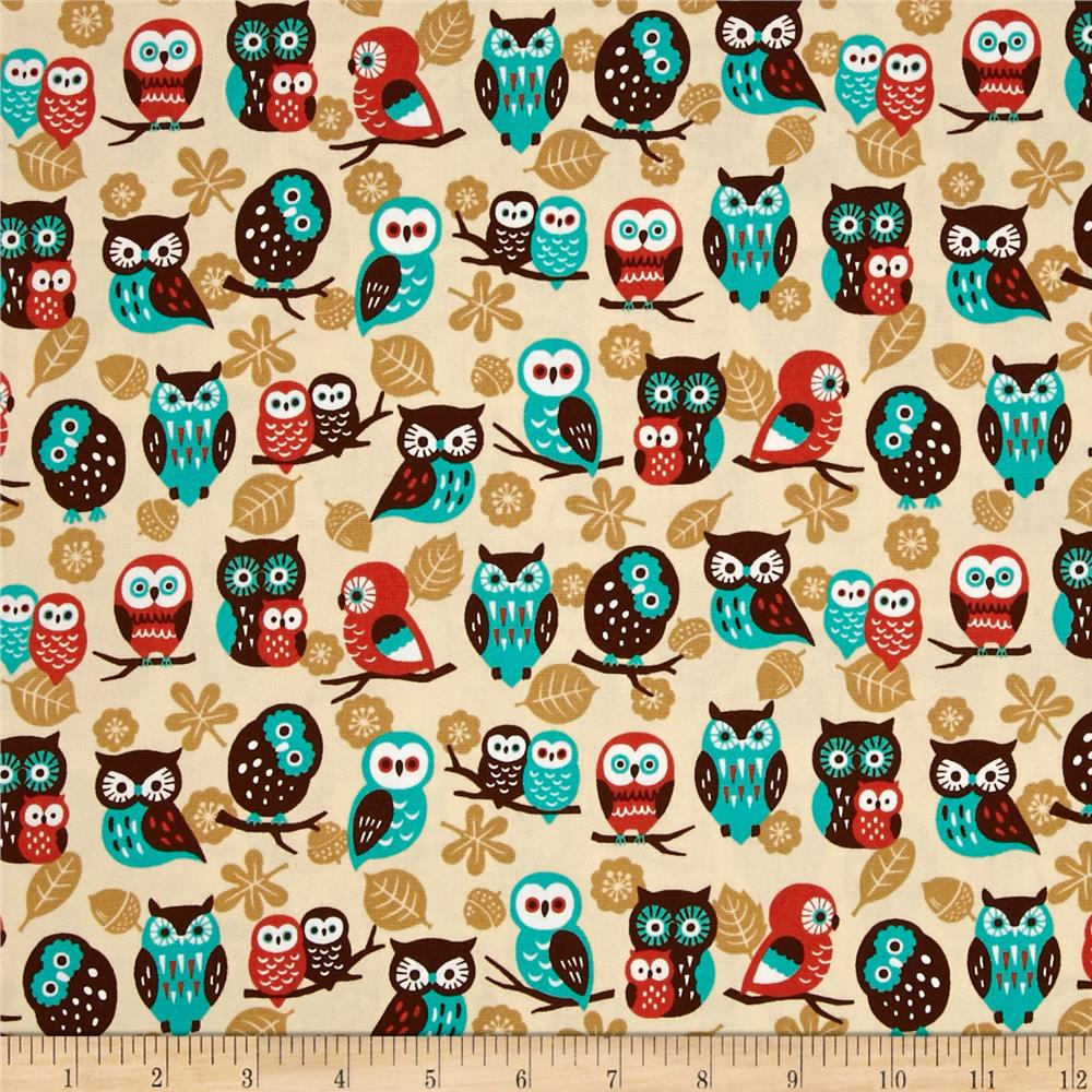 Animal Diary Owls Cream