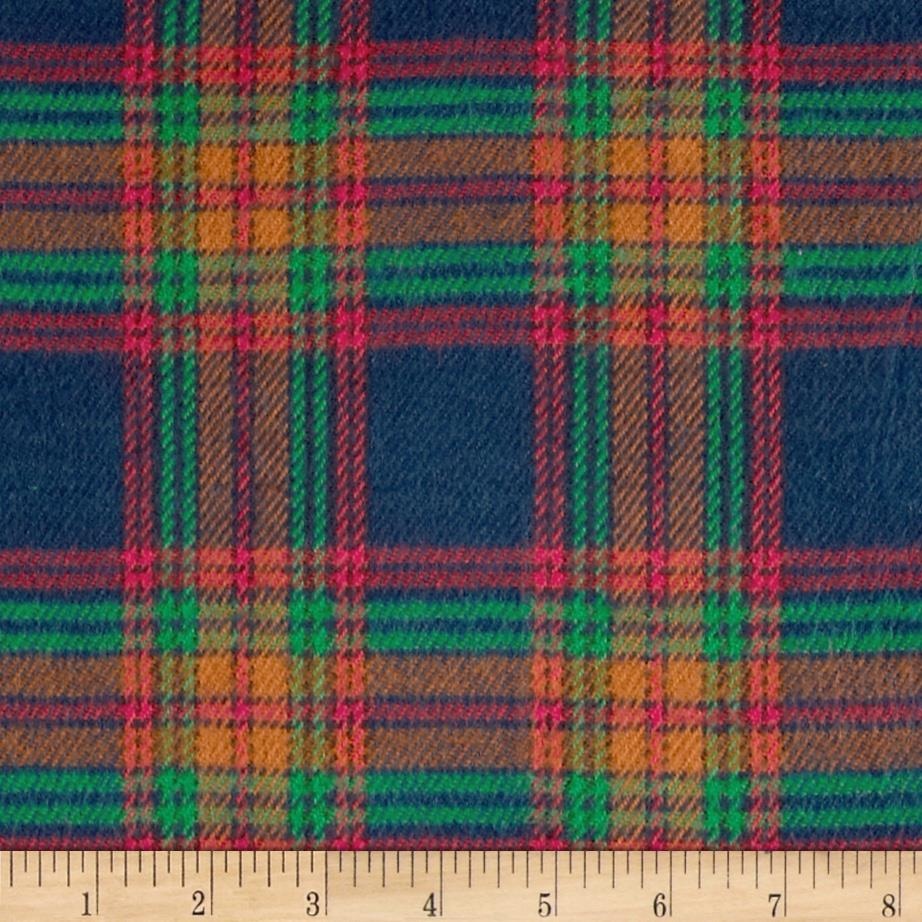 6 oz. Flannel Large Plaid Navy/Red/Amber