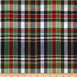 Madras Plaid Black/Red/Green