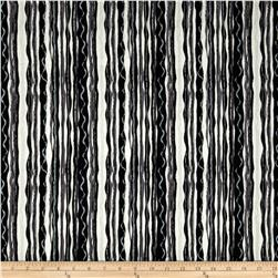 Black & White Metallic Stripe