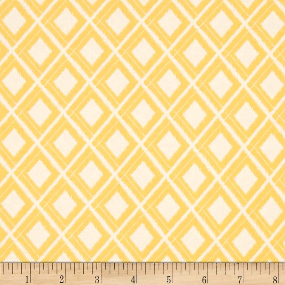 Moda Simply Colorful Ikat White/Yellow