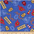 Newcastle Flannel Tossed Rescue Symbols Blue