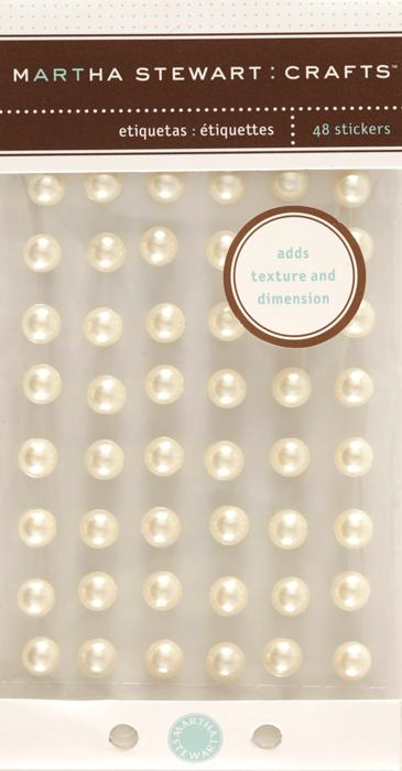 Martha Stewart Crafts Dimensional Pearl Stickers White