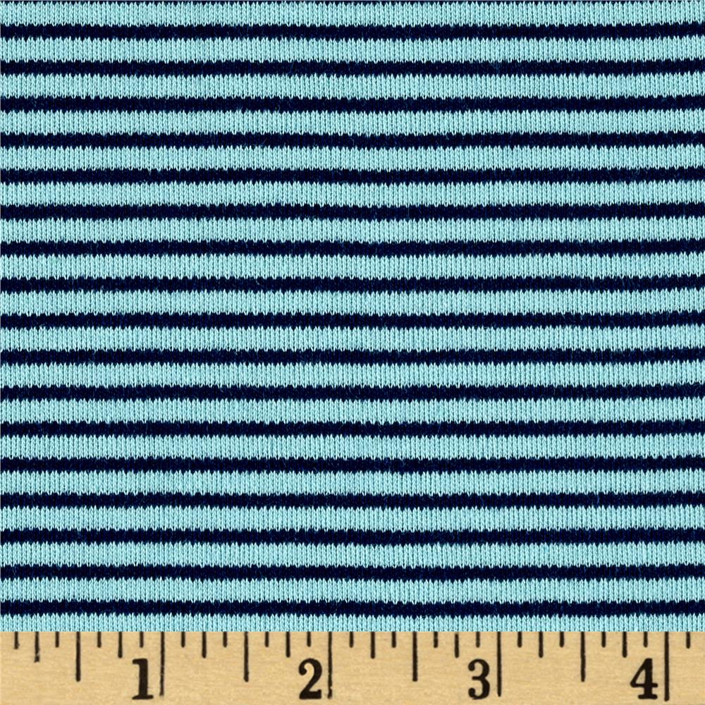 Cloud 9 Organics Stripe Interlock Knit Navy