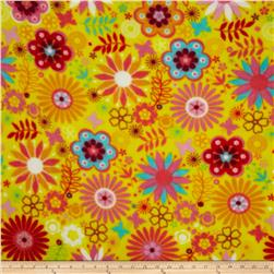 Fleece Flowers Yellow