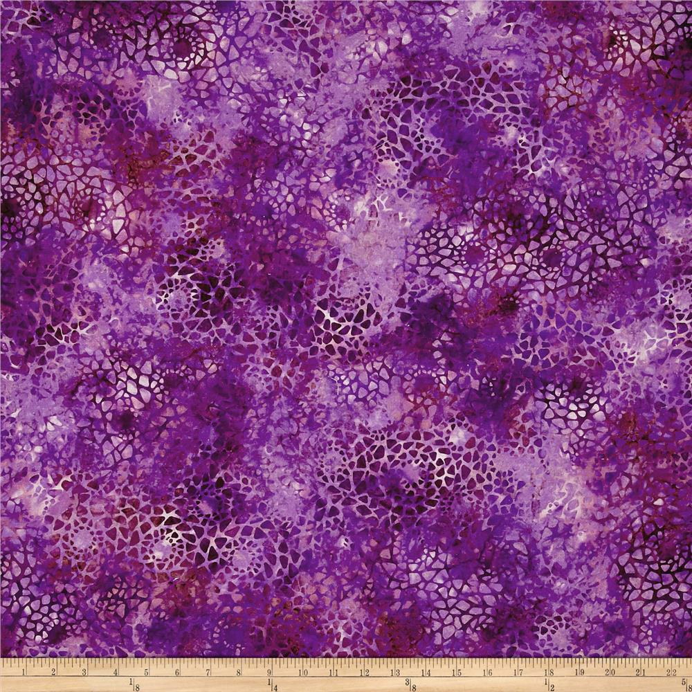 "Essentials 108"" Wide Back Mosaic Dark Purple"