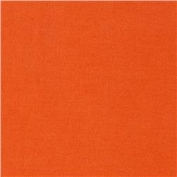 Italian Designer Stretch Twill Solid Orange