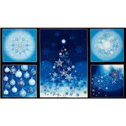 Robert Kaufman Radiant Holiday Metallic 24 In. Panel Frost