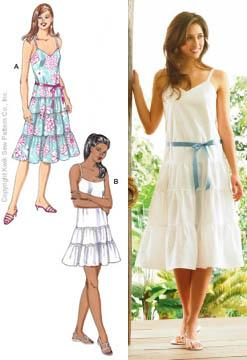 Kwik Sew Misses Tiered Sundresses Pattern