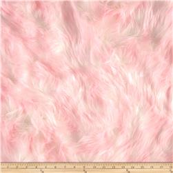Shannon Luxury Faux Fur Candy Shag Baby Pink