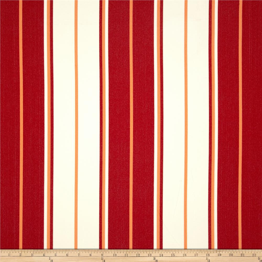 Bella-Dura Eco-Friendly Indoor/Outdoor Summer Tide Stripe Red/Melon