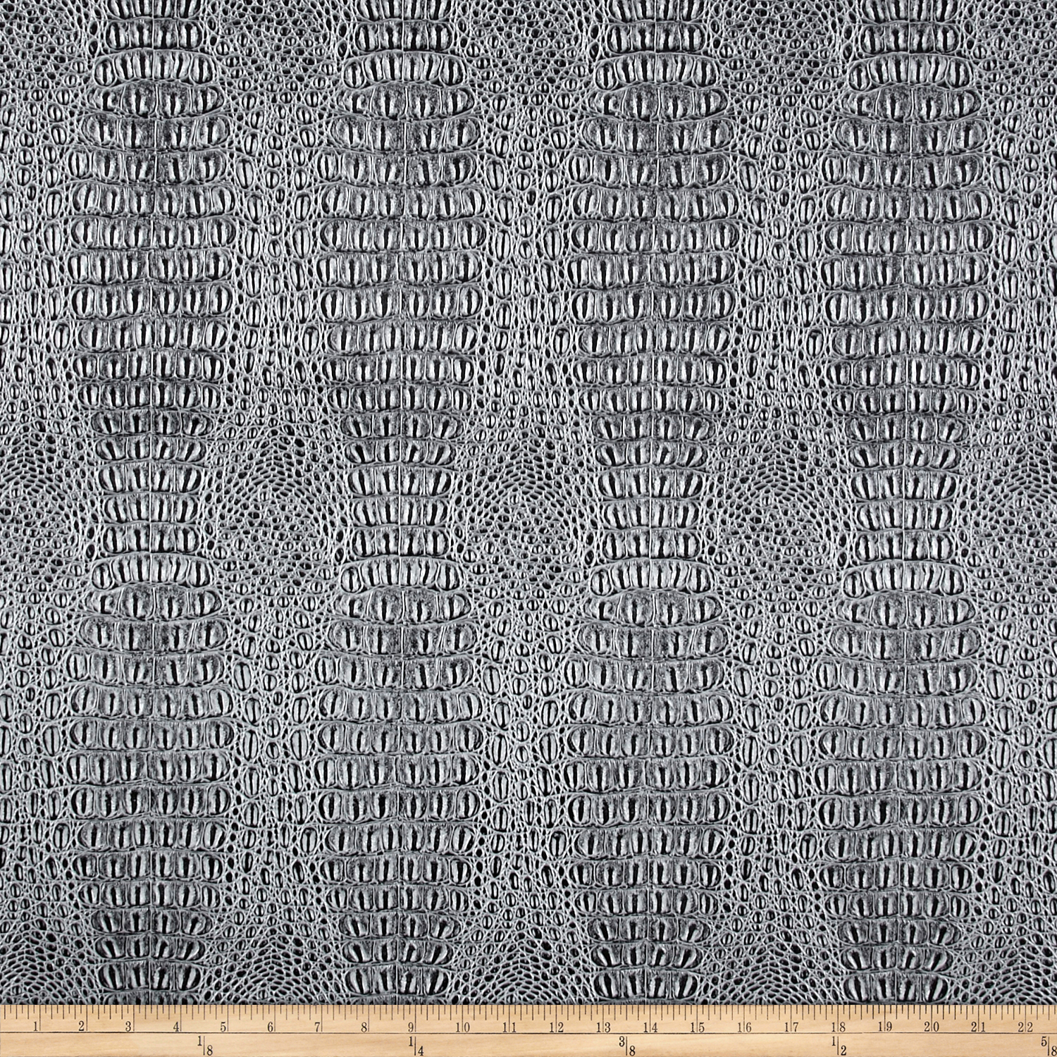 Faux Leather Gator Pewter Fabric