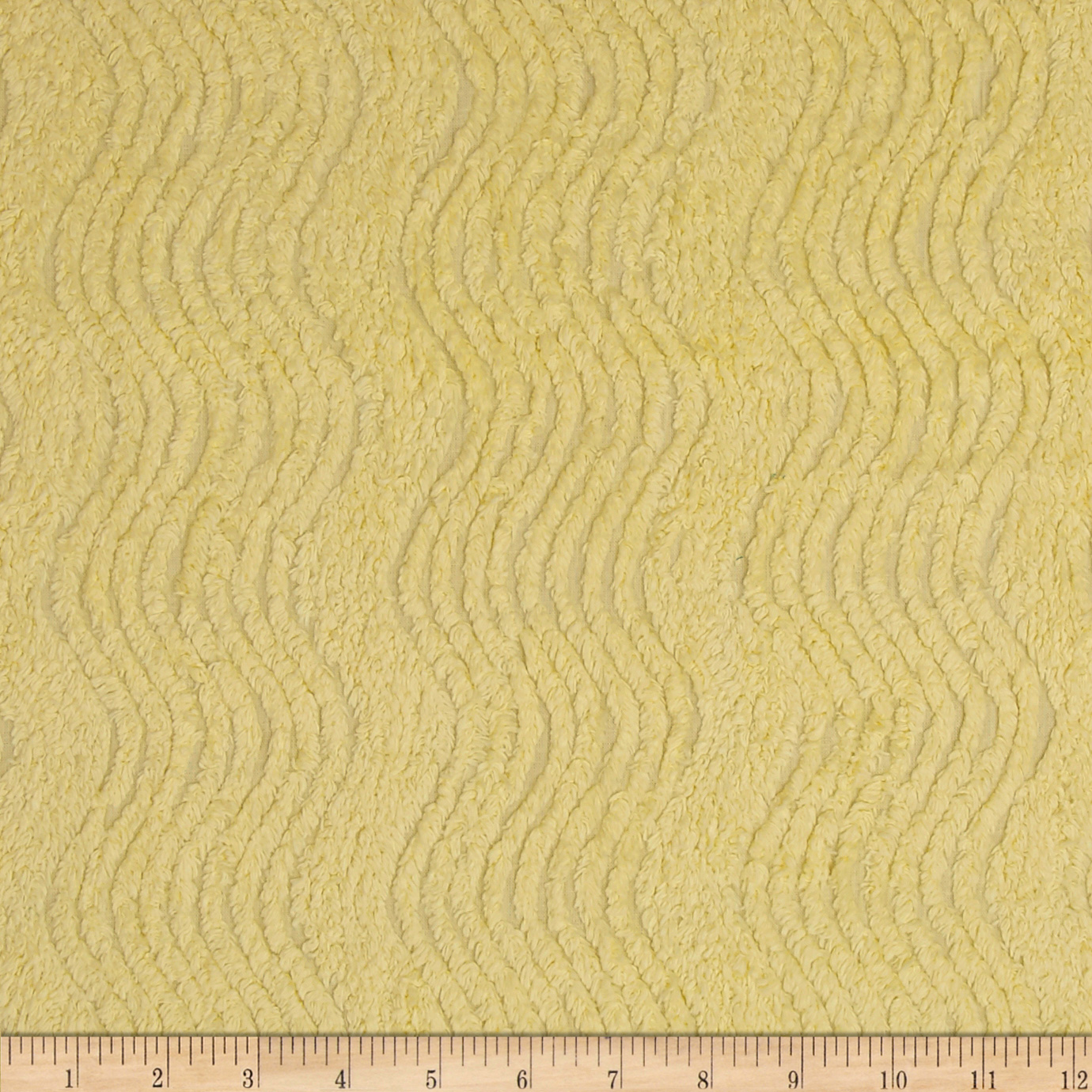 Richlin 10 Ounce Wavy Chenille Yellow Fabric