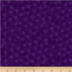 Harmony Flannel Squares Grape