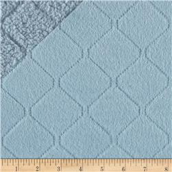 Minky Diamond Quilted Light Blue
