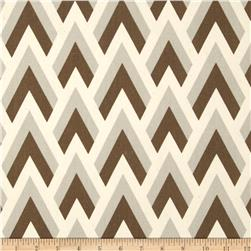 Premier Prints Zapp Brown/Natural Fabric