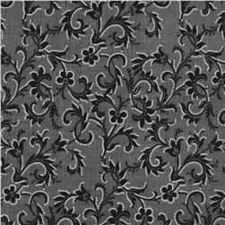 Timeless Treasures Lacey Scroll Black Fabric