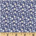Riley Blake A Beautiful Thing Flannel Floral Navy