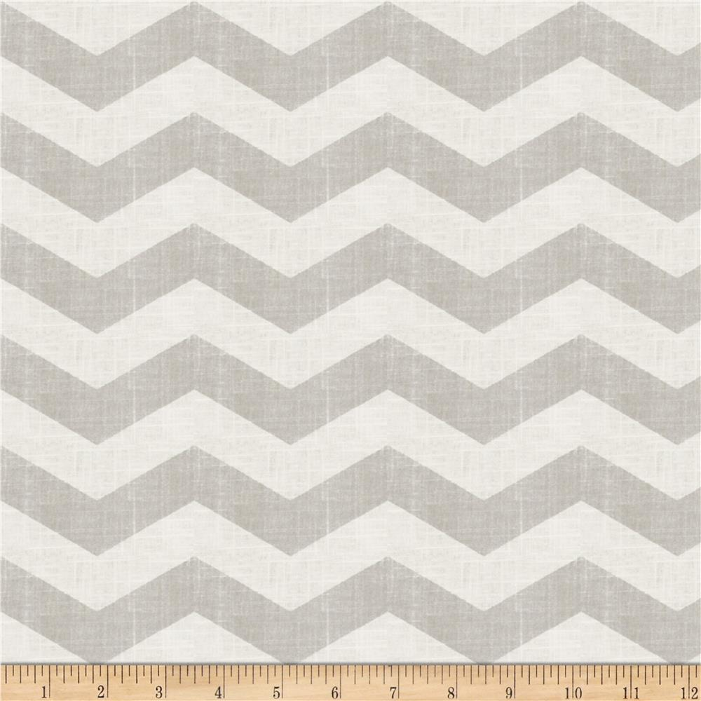 Jaclyn Smith 02603 Chevron Blend Dove Grey