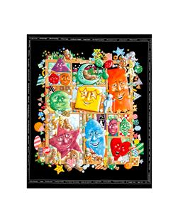 Shadowbox Hunt Shapes 36in. Panel Black