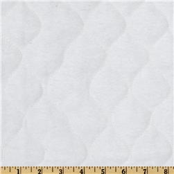 Quilted Flannel White Fabric