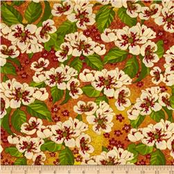 Tropical Travelogue Decorative Medium Floral Orange/Multi