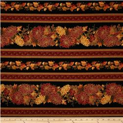 Autumn Splendor Autumn Border Stripe Black