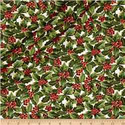 A Festive Season Metallic Holly Allover Cream
