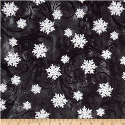 Kanvas Winter Story Snowflake Scroll Black