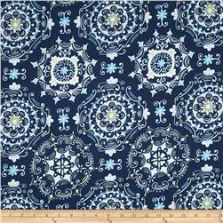 Dena Designs Tea Garden Home Decor Sateen Dream Right Navy