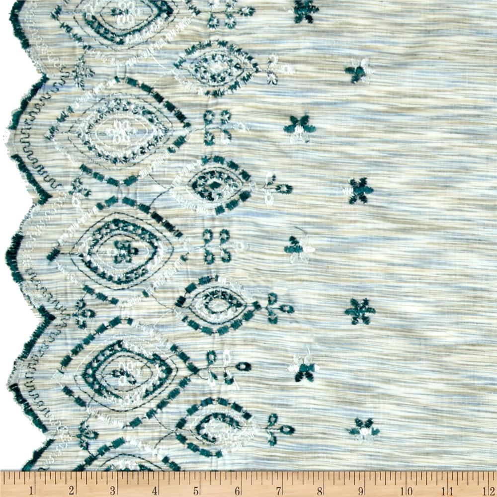 Double Border Lawn Scalloped Green