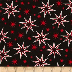 Kanvas It's A Strike Star Black/Red Fabric