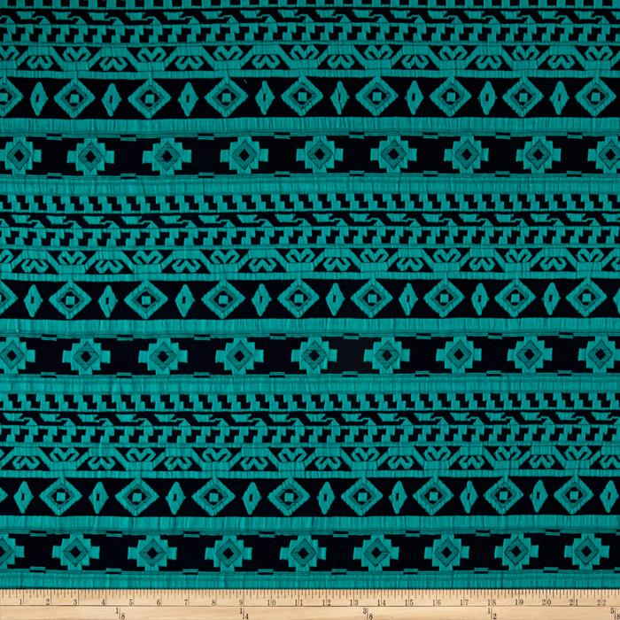 Jacquard Knit Aztec Print Navy/Turquoise