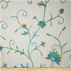 Bartow Embroidered Garden State Floral Turquoise/Olive