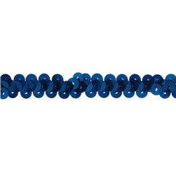 "3/8"" Stretch Metallic Sequin Trim Royal Blue"