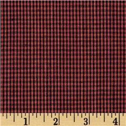 Homespun Yarn Dyed Small Plaid Shirting Burgundy/Black