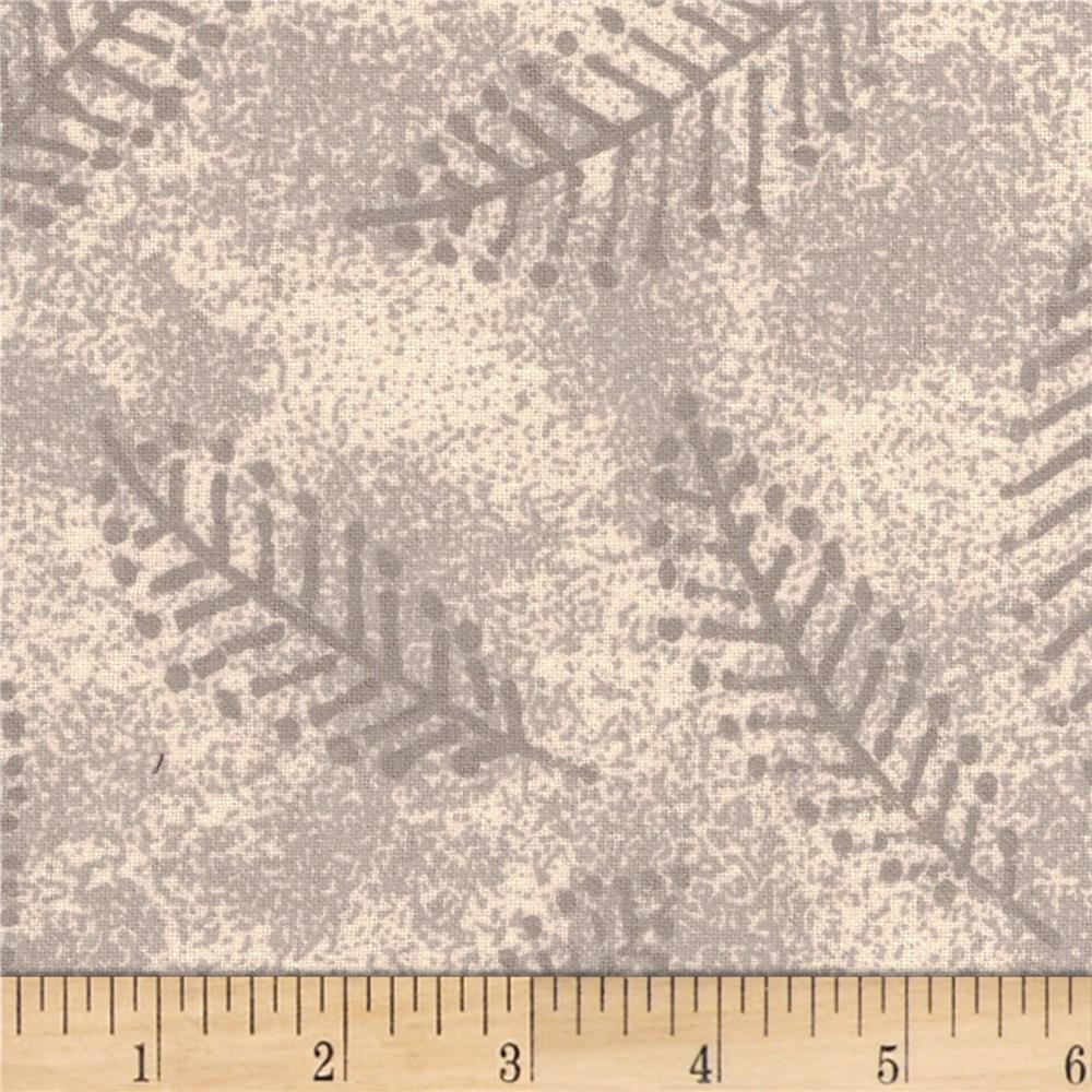 110'' Wide Flannel Quilt Back Fern Ivory Fabric By The Yard
