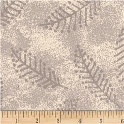 "110"" Wide Flannel Quilt Back Fern Ivory"