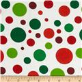 Christmas Basics Big Dots White/Multi