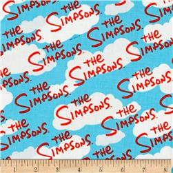 The Simpsons Logo Blue