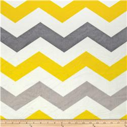 Minky 1 3/4'' Chevron Grey/Yellow Fabric